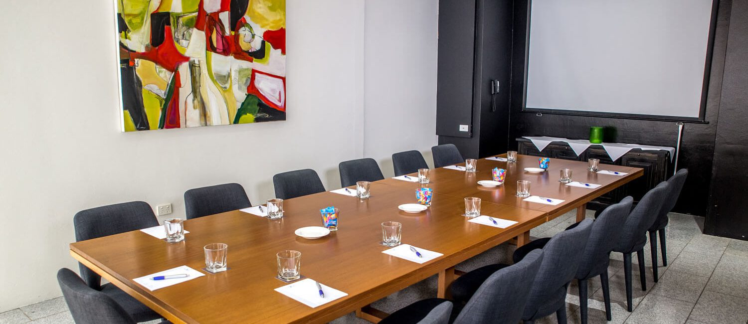 Brisbane-The-Pacific-Dining-Room-meeting-with-screen   Pacific Hotel Brisbane
